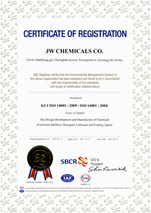 CERTIFICATE OF REGISTRATION ISO 14001:2004